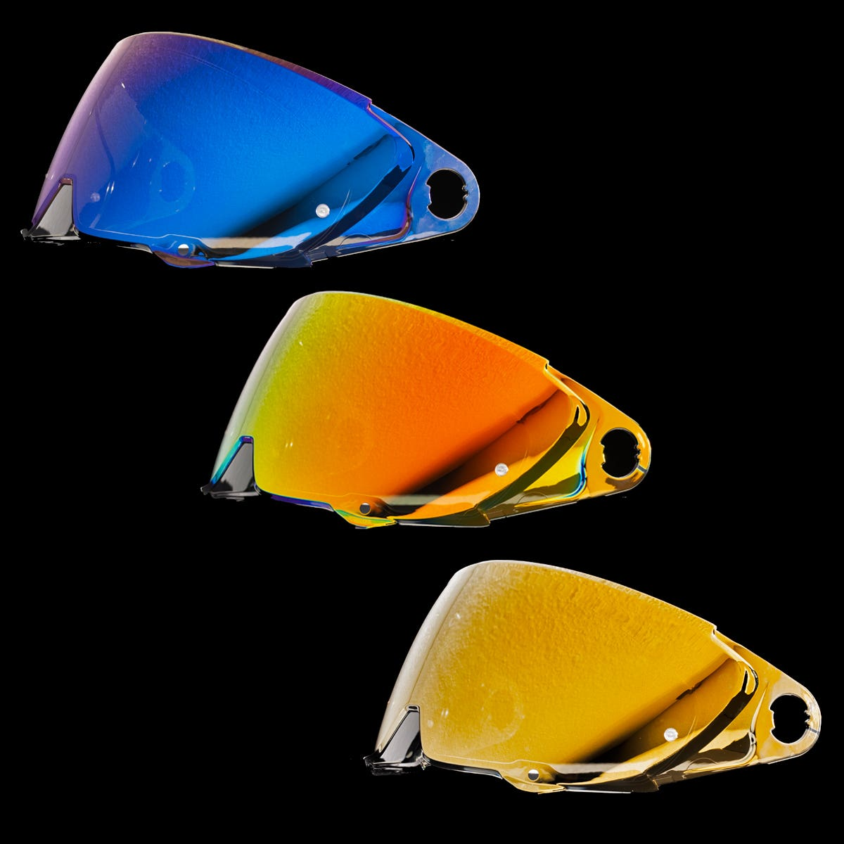 Atlas 2.0 Fully Loaded Visor Pack - Gold, Red & Blue Visors