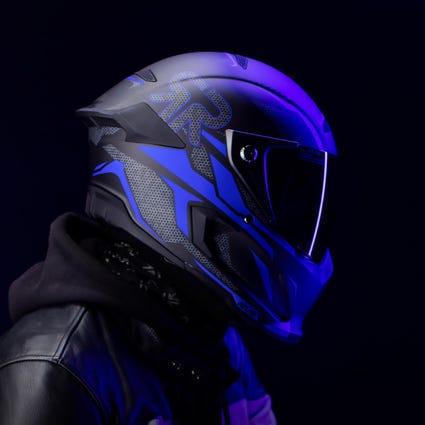 Atlas 1.0 Carbon Helmet - Riot Cobalt