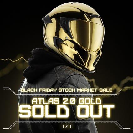 Atlas 2.0 Carbon Helmet - Gold