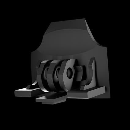 RG1-DX GoPro Mount - Black