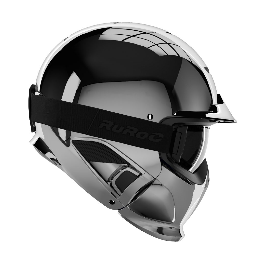 ruroc RG1-DX Chrome electric scooter helmet
